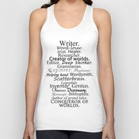 writer Tank Tops featuring Writer by Thoughts from behind the Lens