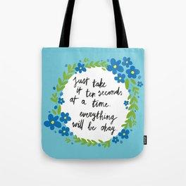 Ten Seconds - Blue Tote Bag