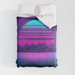 Future Sunset Vaporwave Aesthetic Comforters