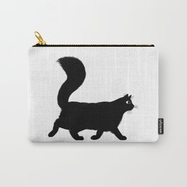 Walking Black Cat Carry-All Pouch