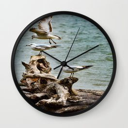 Two On - One Off Wall Clock