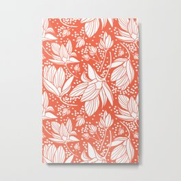 Magnolia Shower Metal Print