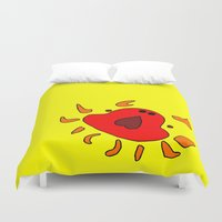 crab Duvet Covers featuring Crab by Happy Fish Gallery