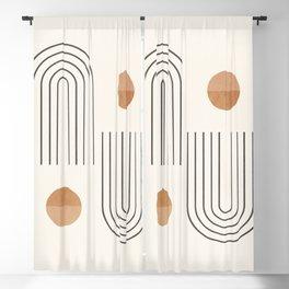 Minimal Geometric 106 Blackout Curtain