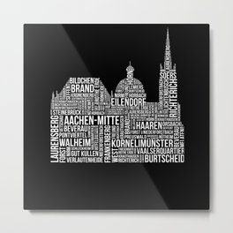 Aachen Districts Metal Print