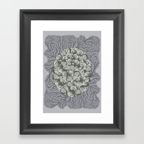 Snails All The Way Down Framed Art Print