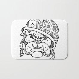 Soldier Bulldog Ace of Spade Mono Line Bath Mat