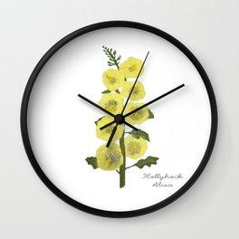 Hollyhock: Alcea Wall Clock