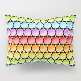 Rainbow Dotty Stripes Pillow Sham