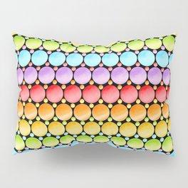 Rainbow Dotty Stripes Pillow Sham