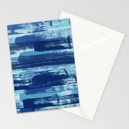 Blue Brush Strokes  Stationery Cards