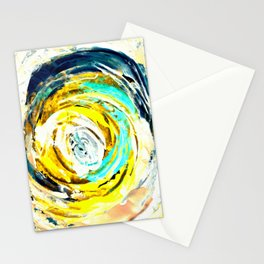 Yellow twister Stationery Cards