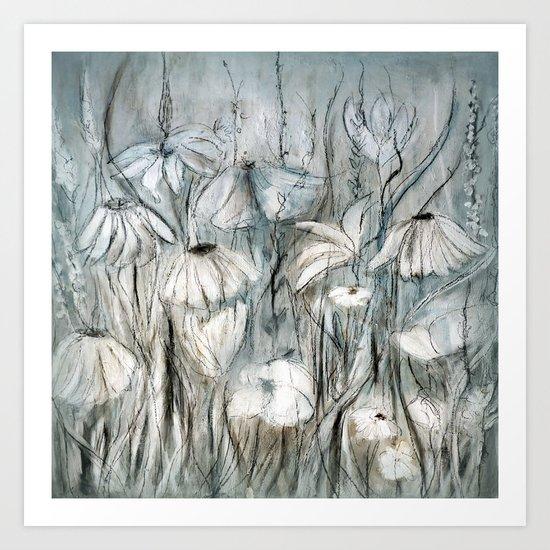 prairie fleurie Art Print