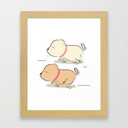 rocky running Framed Art Print