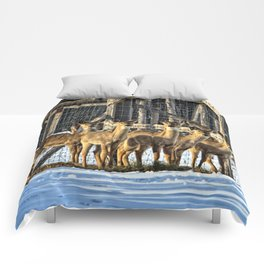 Whitetail Deer Stare Down Comforters