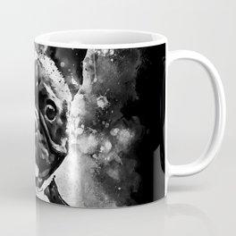 french bulldog basketball splatter watercolor black white Coffee Mug