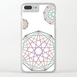 Nonagon Triad Clear iPhone Case