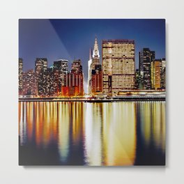 Romantic NYC Night / BIg Apple / UN  Metal Print