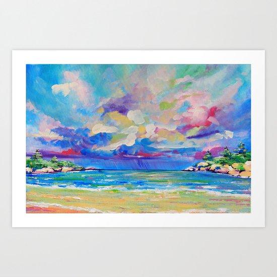 Storm over Alma Art Print