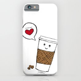 Coffee love you iPhone Case
