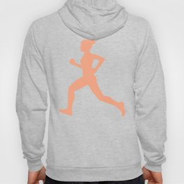 Grey and Pastel Running Girl Pattern Hoody