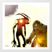 monsters Art Prints featuring Monsters by Ganech joe
