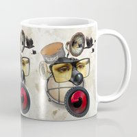 industrial Mugs featuring industrial existence by Vin Zzep