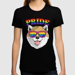Gay Pride Shiba Inu Dog LGBT Rainbow Sunglasses T-shirt