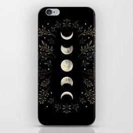 Moonlight Garden - Olive Green iPhone Skin