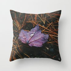Purple Patch Throw Pillow