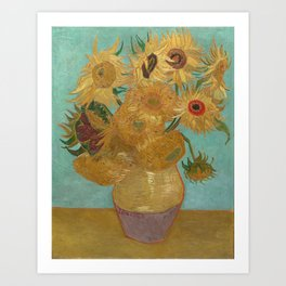 Vincent Willem van Gogh, 1889, Sunflowers / Vase with Twelve Sunflowers, Oil On Canvas Artwork Art Print