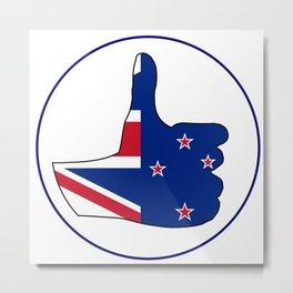 Thumbs Up New Zealand Metal Print