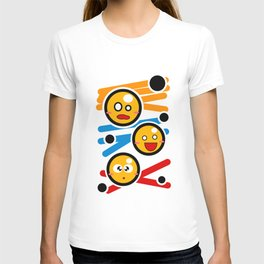 happy smiley trio T-shirt