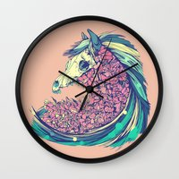 horse Wall Clocks featuring Beautiful Horse by dvdesign