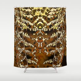 Abstract autumn fern leave Shower Curtain