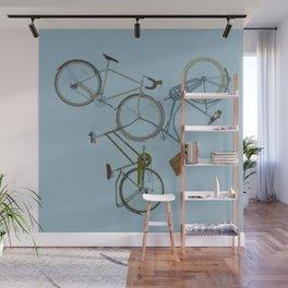 3 bikes Wall Mural