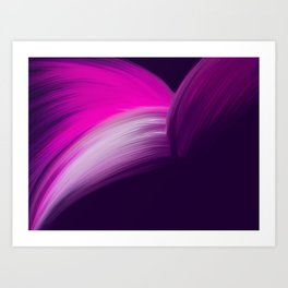 Pink and Purple Abstract Art Print