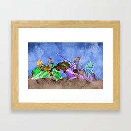 The Hen Always Wins Framed Art Print