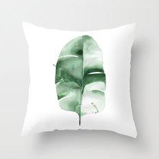 Banana Leaf no. 6 Throw Pillow