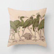 Bird Forest Throw Pillow