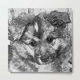 AnimalArtBW_Dog_20170905_by_JAMColorsSpecial Metal Print