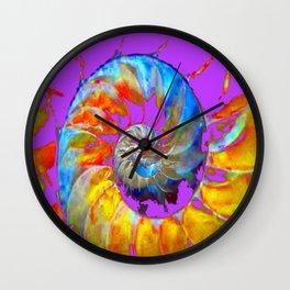 PANTENE ULTRA VIOLET PURPLE  NAUTILUS SHELL ART Wall Clock