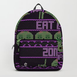 Zombies eat Brains Funny Quote Backpack