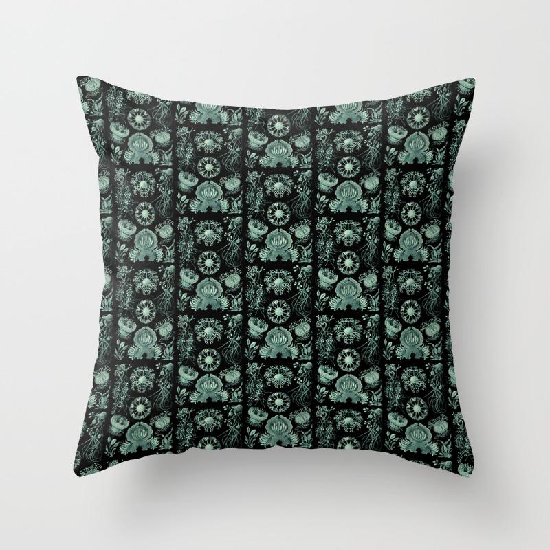 Ernst Haeckel Ascomycetes Sac Fungi Throw Pillow By Snaphappyscientist Society6