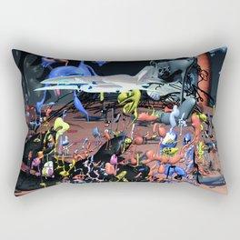 Fly Free B - doodle world Rectangular Pillow