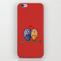 Owl Love red iPhone & iPod Skin