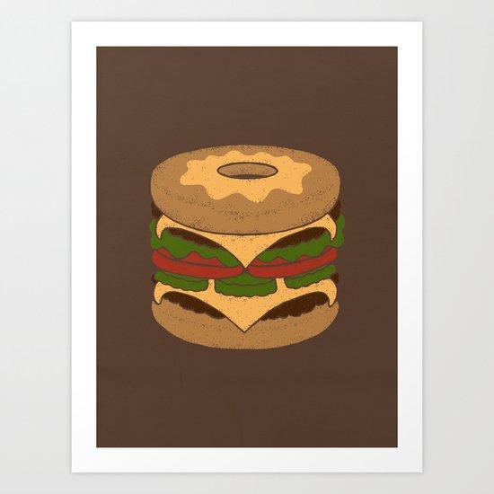 Donut Burger Art Print