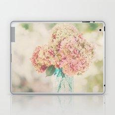 Dreamy Autumn Hydrangea Flowers Still Life Laptop & iPad Skin