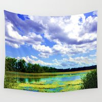 wisconsin Wall Tapestries featuring Lake Wingra, Wisconsin by Ron Trickett