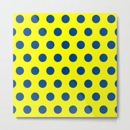 maize and blue polka dots Metal Print
